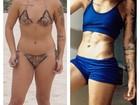 Petra Mattar exibe barriga trincada e comemora: 'Hoje estou com 56kg'