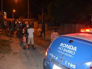 Homem foi alvejado com sete tiros após discussão (Foto: Marcelo Marques/ G1)