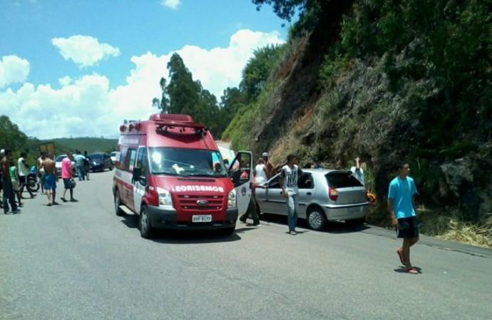 Skatista morre após acidente em Cachoeiro de Itapemirim, no Espírito Santo (Foto: Andriano Batista Pinto/ Foto leitor A Gazeta)