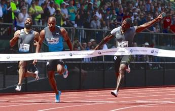 Com vento acima do permitido, Justin Gatlin vence os 100m rasos com 9s88