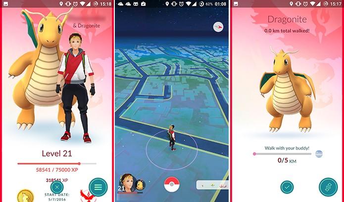 Pokemon Go Buddy caminha pela cidade com o treinador para ganhar candies (Foto: Reprodução/Elson de Souza)