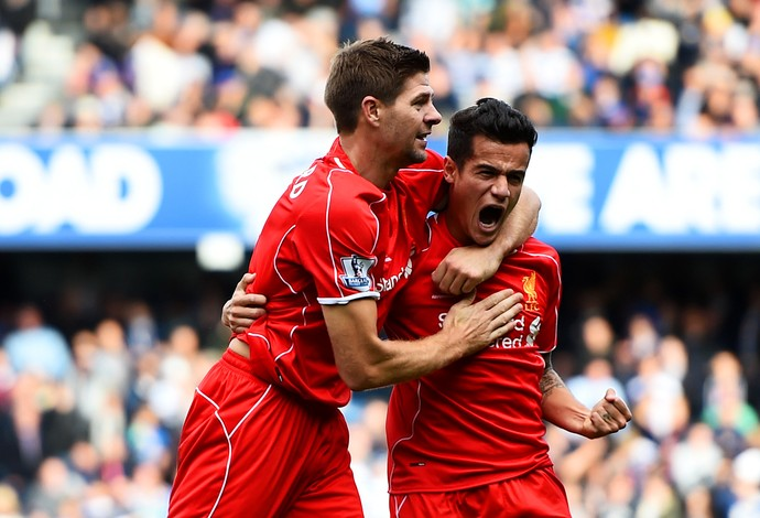 Gerrard e Philippe Coutinho Liverpool (Foto: Getty Images)