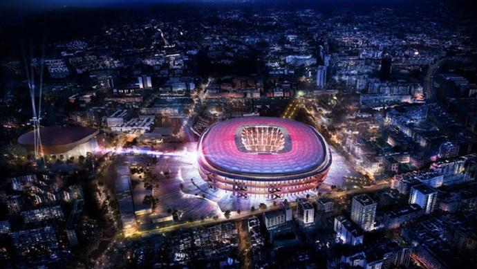 Projeto do novo Camp Nou, estádio do Barcelona (Foto: Reprodução)