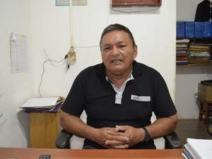 Francisco Viana, presidente da Colônia de Pescadores de Macapá (Foto: John Pacheco/G1)