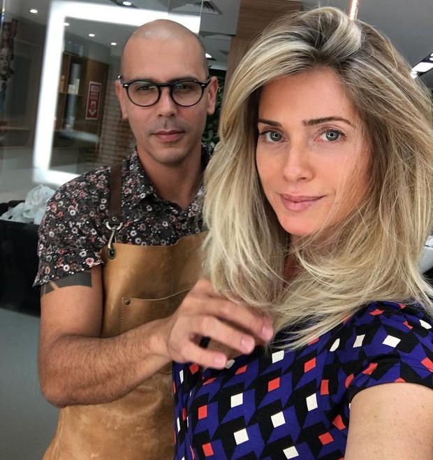 Anderson Couto e Leticia Spiller: atriz ficou platinada aopos novela Sol Nascente (Foto: Reprodução do Instagram)