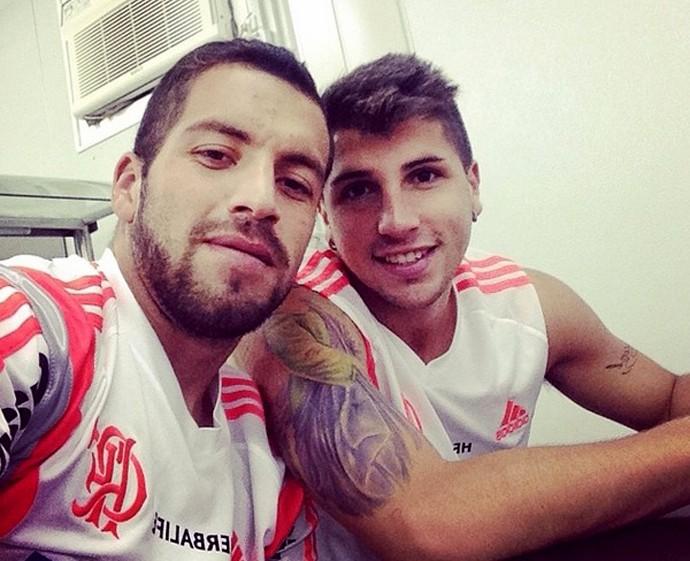 Canteros e Mugni Flamengo (Foto: Reprodução/Instagram)