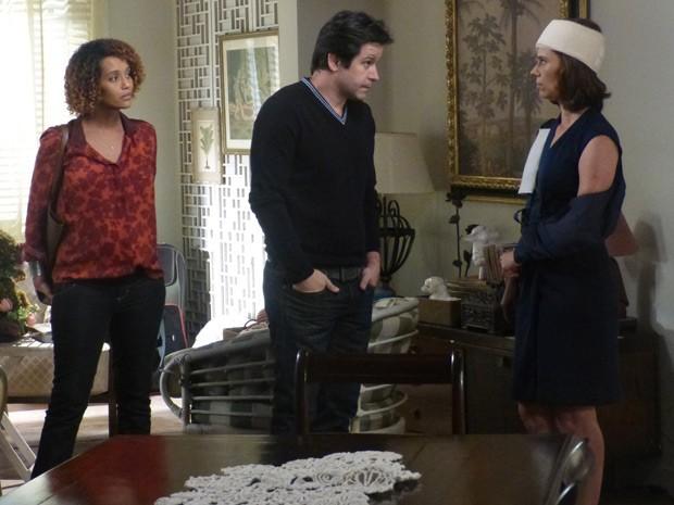 Jonas pede para Sandra ficar na casa de Gláucia (Foto: Geração Brasil / TV Globo)