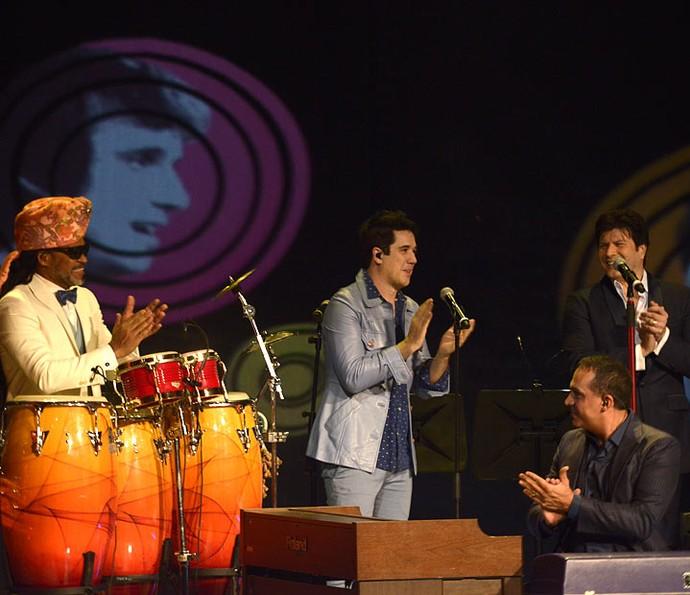 Carlinhos Brown, Rogério Flausino e Paulo Ricardo tocam com RC (Foto: Ellen Soares/Gshow)