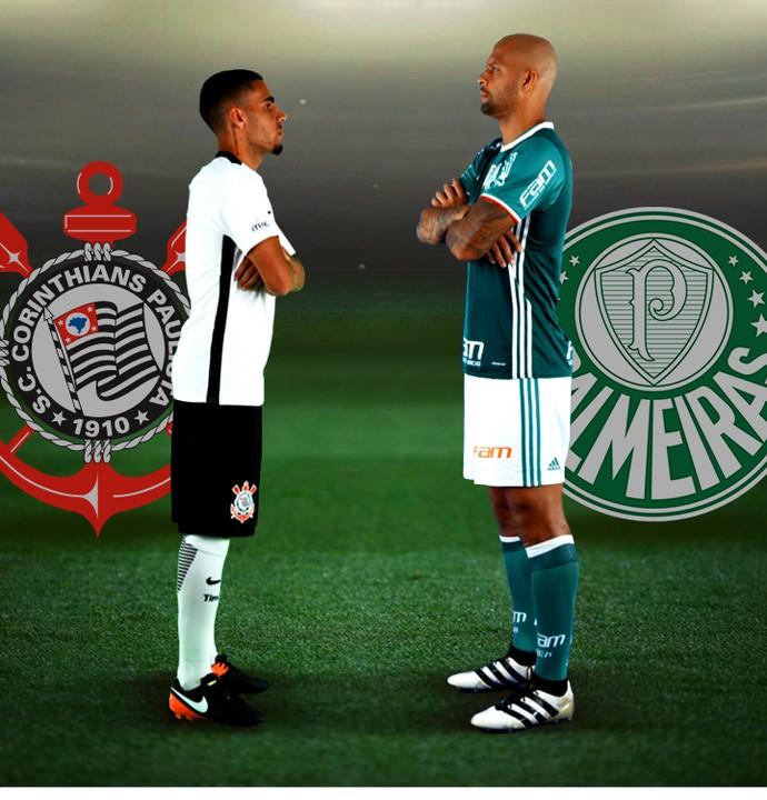 INFO - Gabriel corinthians e Felipe Melo Palmeiras (Foto: Editoria de Arte)