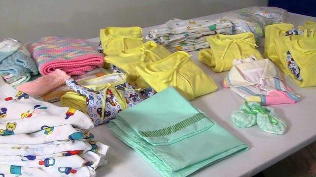 Enxovais para bebês (Foto: Reprodução/TV Tribuna)