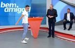 Fred, do Desimpedidos, faz comemoração de Cristiano Ronaldo