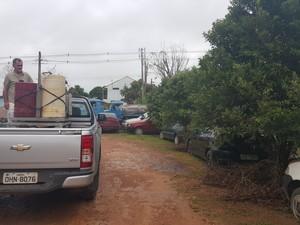 UBV será pulverizado em regiões com casos de suspeita de dengue em Ji-Paraná (Foto: Pâmela Fernandes/G1)