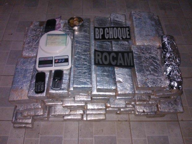 Droga foi apreendida em Parnamirim (Foto: Divulgação/Polícia Militar do RN)