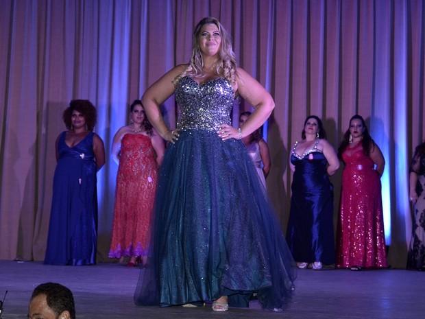 Aline Mansur vence o Miss Plus Size Carioca realizado na Zona Sul do Rio (Foto: Roberto Teixeira/ EGO)