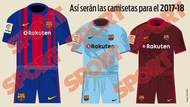 Possível nova camisa do Barcelona