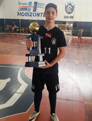 Erick Kenjii, atleta do futsal do Remo (Foto: Arquivo Pessoal)