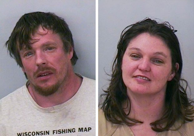 Casal americano foi preso após deixar filha de nove anos dirigir (Foto: Polk County Sheriff's Department/Reuters)
