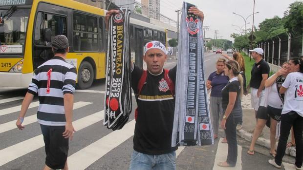 Faixas de campeão do Corinthians (Foto: Marcos Guerra / Globoesporte.com)