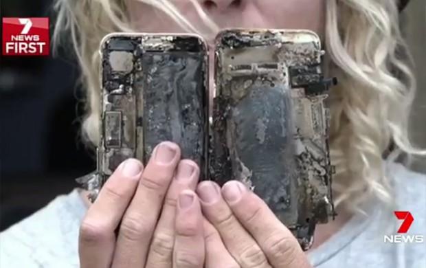 Australiano afirma que seu iPhone 7 pegou fogo e destruiu seu carro (Foto: Reprodução/Twitter/Channel7)