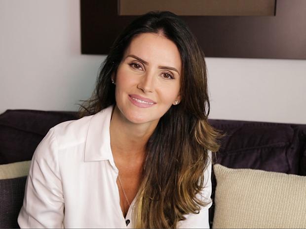 Lisandra Souto em entrevista ao VIVA  (Foto: Canal Viva)