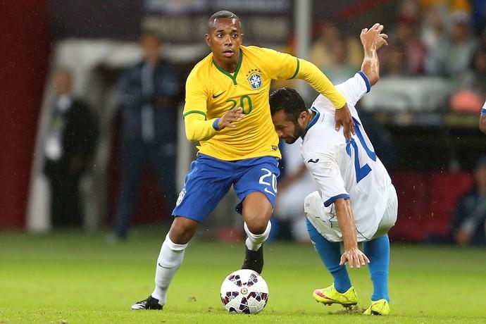Robinho Brasil x Honduras (Foto: AFP)