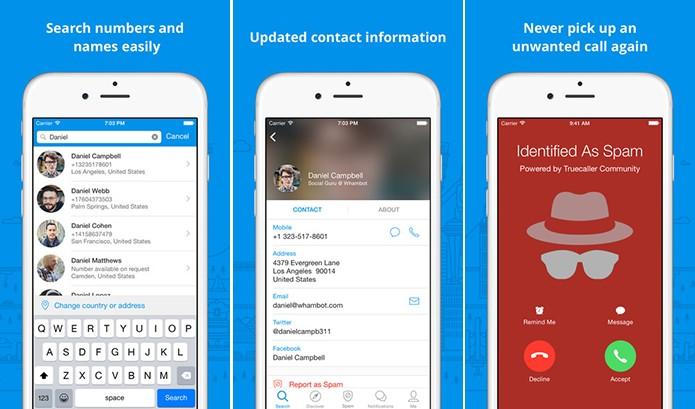 TrueCaller tem um grande banco de dados para identificação de chamadas (Foto: Divulgação/App Store)