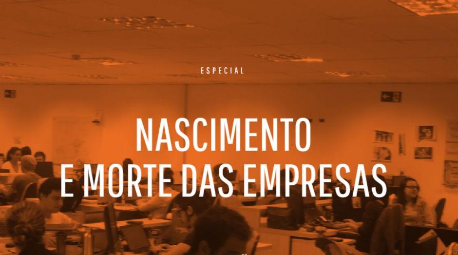 Nascimento e morte das empresas (Foto: Divulgação)