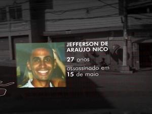 Jefferson de Araújo Nico, de 27 anos, foi morto no dia 15 de maio, às 15h50, na região do Capão Redondo, Zona Sul de São Paulo (Foto: Reprodução TV Globo)