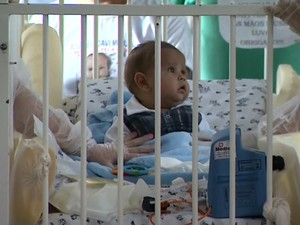 Davi Miguel foi transferido em UTI móvel para hospital em SP (Foto: Márcio Meireles/EPTV)