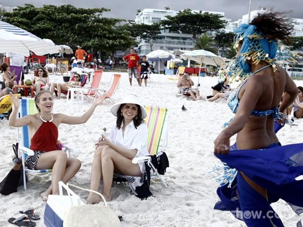 Até uma odalisca participou da gravação! (Foto: Inácio Moraes/TV Globo)
