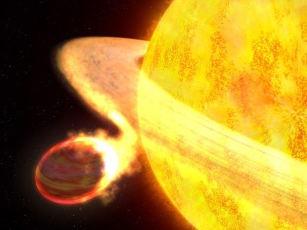 O planeta Wasp-12b (Foto: Greg Bacon/STScl)