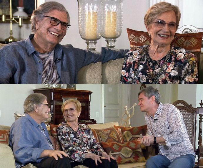 Serginho Groisman entrevista Tarcisio Meira e Gloria Menezes (Foto: Reprodução)