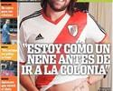 Ex-jogador do Inter, Cavenaghi volta ao River Plate e faz juras de amor