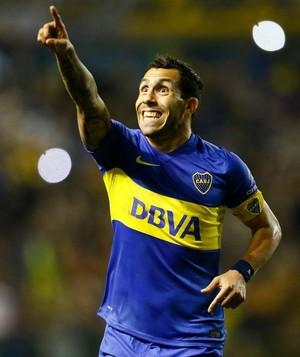 Tevez Boca Juniors x Deportivo Cali (Foto: Divulgação / Boca Juniors)