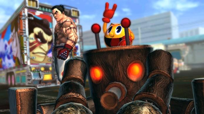 Pac-Man já fez muitas participações especiais, a mais recente em Street Fighter X Tekken (Foto: Divulgação)
