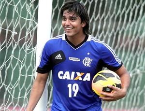 Marcelo Moreno Treino Flamengo (Foto: Marcelo Theobald / Agência O Globo)