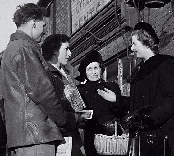 Thatcher, aos 24 anos, na primeira campanha (Foto: Chris Ware/Getty Images)