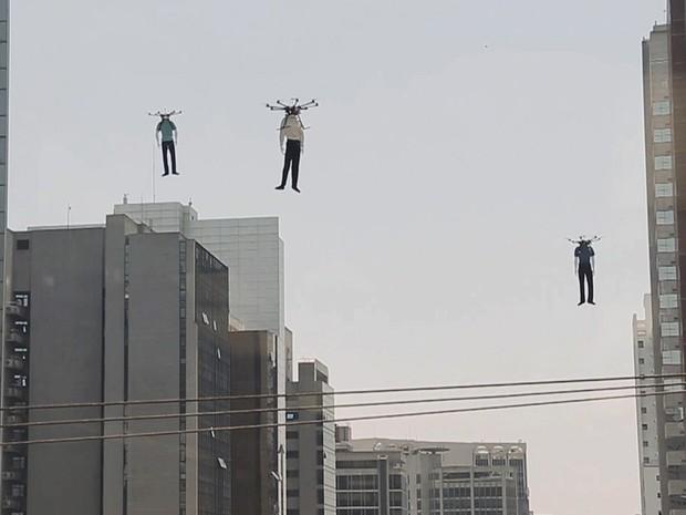A ação publicitária aconteceu na Vila Olímpia, em SP (Foto: Divulgação)