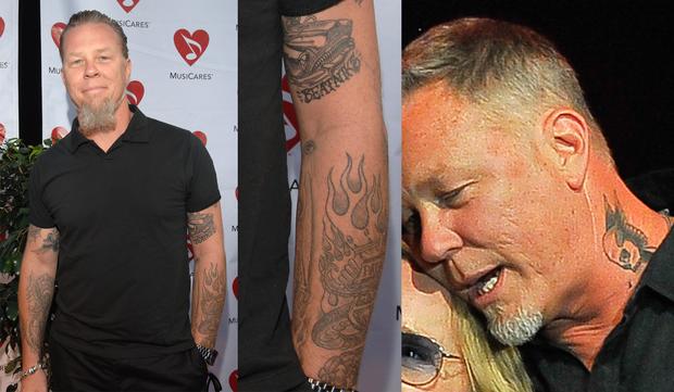 Tatuagens de James Hetfield do Metallica (Foto: Getty Images)