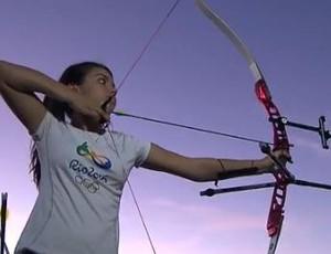 Yasmin Duran, promessa do tiro com arco (Foto: Reprodução / TV Cabo Branco)