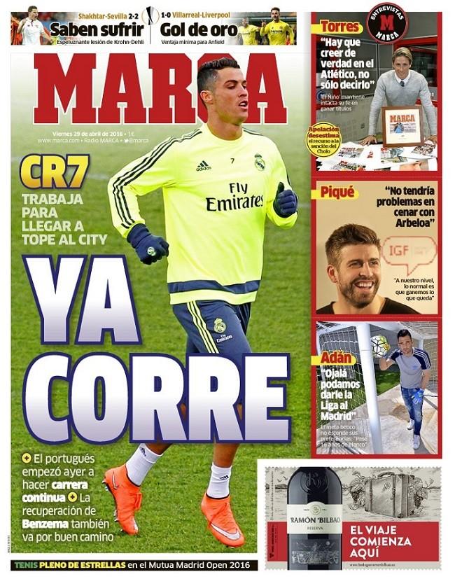 BLOG: Corrida de CR7 anima jornal de Madri, mas catalães falam em 15 dias parado