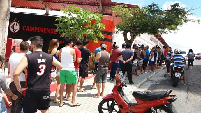 Campinense, filas, ingressos, maiorais (Foto: Divulgação / Campinense)
