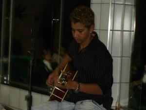 Gusttavo Lima no começo da carreira em Patos de Minas (Foto: Arquivo Pessoal)