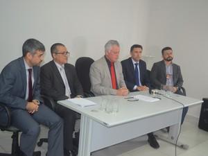 Procuradores falam sobre Operação Hermes (Foto: Rogério Aderbal/ G1)