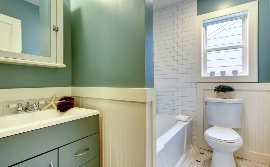 banheiro com estilo retr a nova aposta da decora o On pintura para baños pequeños