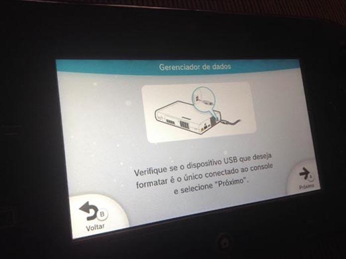 Wii U: aprenda a configurar pendrives e HDs externos para usar no console (Foto: Reprodução/ Murilo Molina)