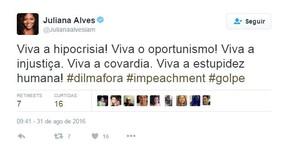 Juliana Alves (Foto: Twitter / Reprodução)