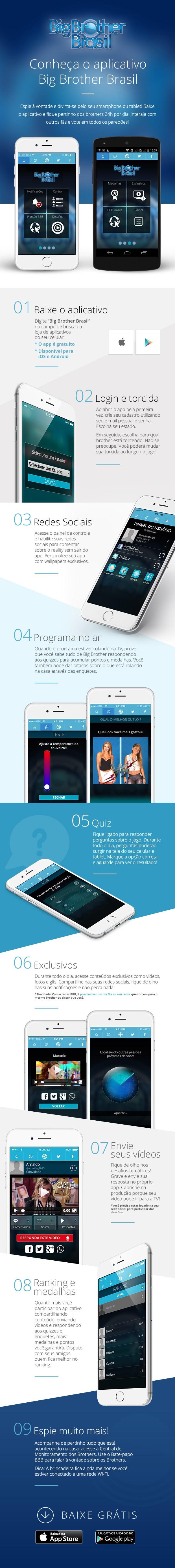 Aplicativo Big Brother Brasil 15 (Foto: Big Brother Brasil / Gshow)