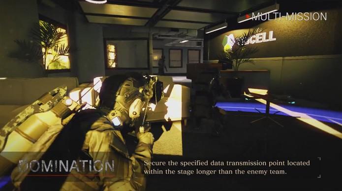 Domination é um pouco mais parecido com outros games e exige que você domine um ponto fixo do mapa em Umbrella Corps (Foto: Reprodução/YouTube)