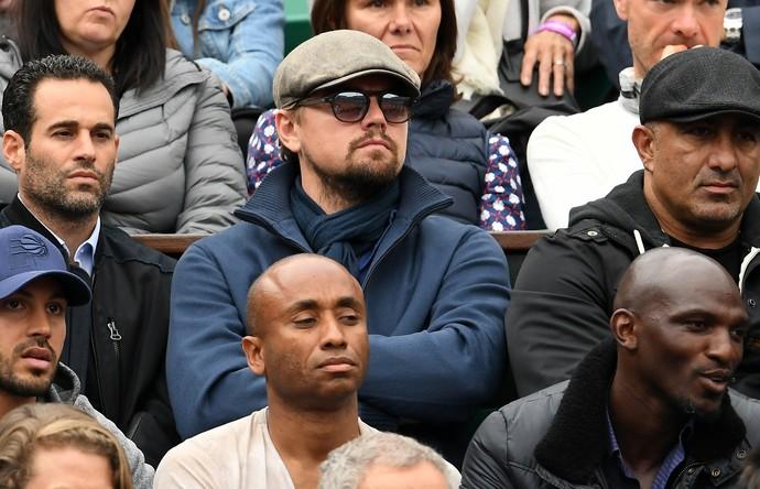 Leonardo DiCaprio na final entre Novak Djokovic e Andy Murray em Roland Garros (Foto: Getty Images)